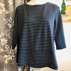 3/$10 // ALFRED SUNG Striped Top